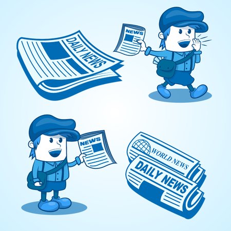 news event: Newsboy Illustration