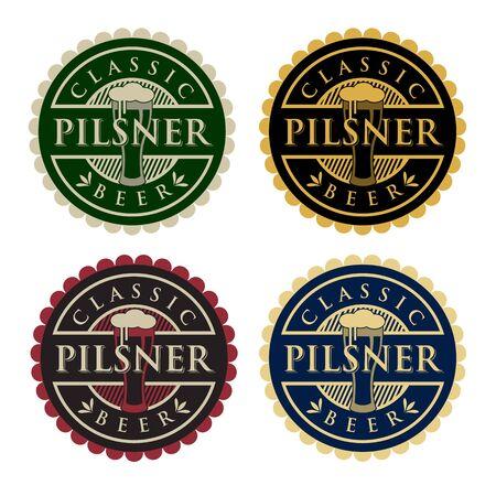 Pilsner Beer Vectores