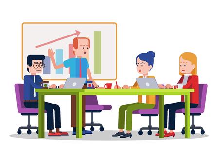 Office Meeting  イラスト・ベクター素材