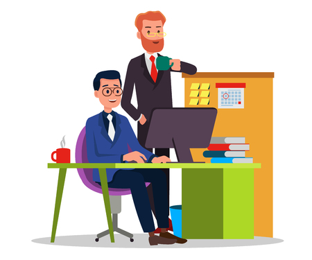 Manager Check the work of the office staff to ensure quality Vectores