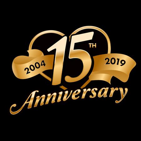 15th Anniversary  イラスト・ベクター素材