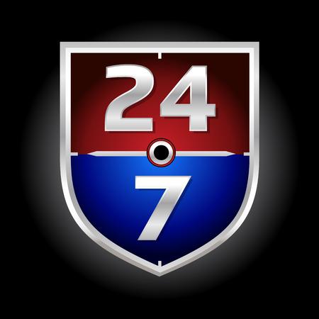 24/7 Time Symbol