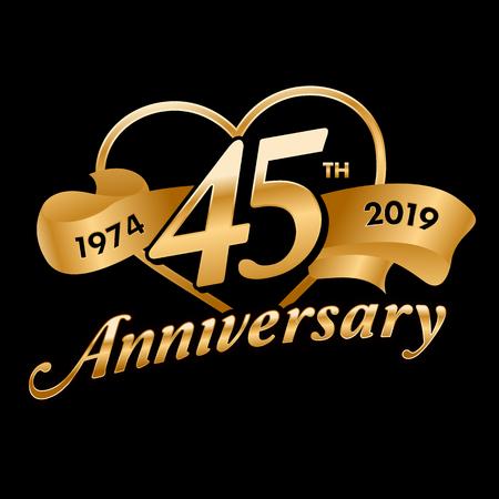 45th Anniversary  イラスト・ベクター素材