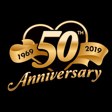Celebración del 50 aniversario Ilustración de vector