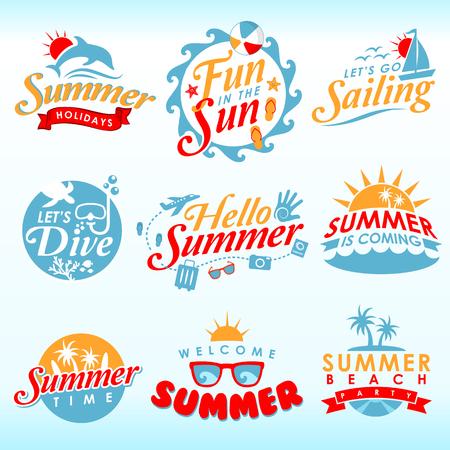 Summer Design Elements Vectores