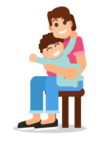 Mother & Child  イラスト・ベクター素材