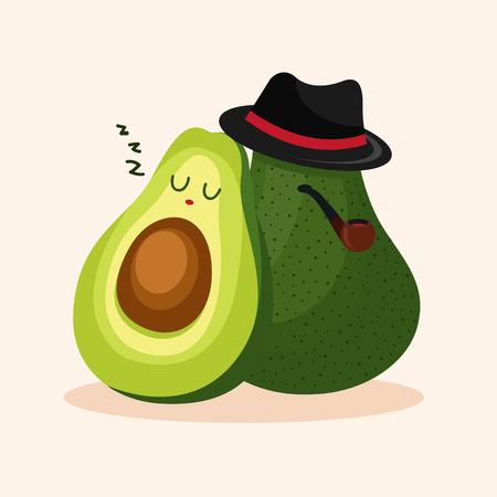Avocado  イラスト・ベクター素材