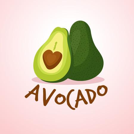 Avocado Addict  イラスト・ベクター素材