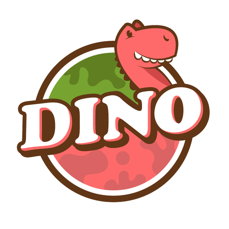 Dinosaur Label Illustration