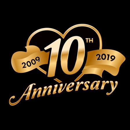 10th Anniversary  イラスト・ベクター素材