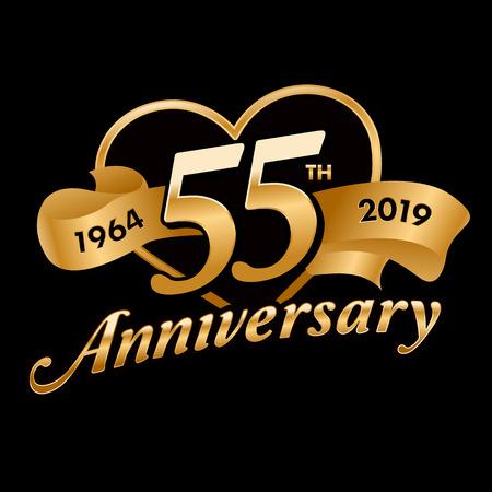 55th Anniversary Symbol