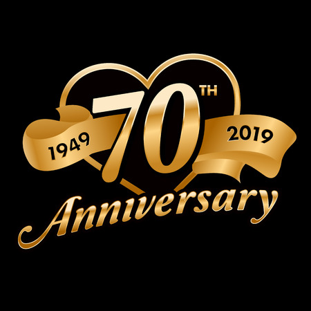 70th Anniversary Symbol Vectores