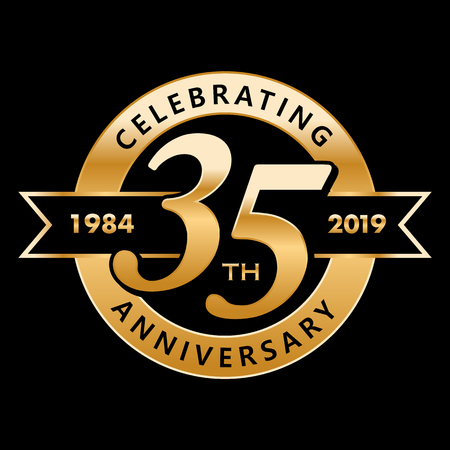 Celebrating 35th Years Anniversary  イラスト・ベクター素材