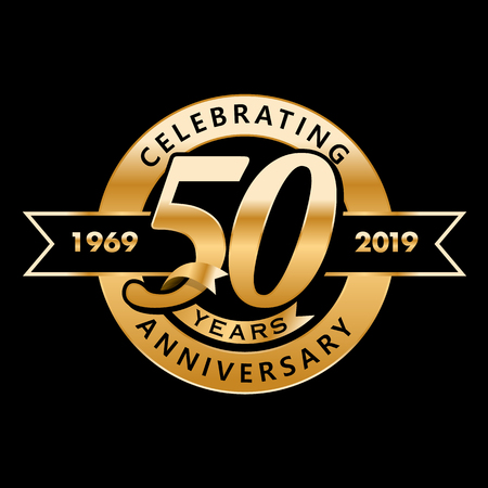Celebrating 50th Years Anniversary Vectores