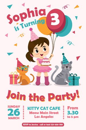 Birthdy card invitations Vectores