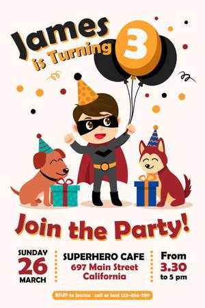 Birthday Party Invitation, Birthday card,vector illustrations Vectores