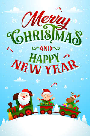 christmas greeting card template vector/illustration