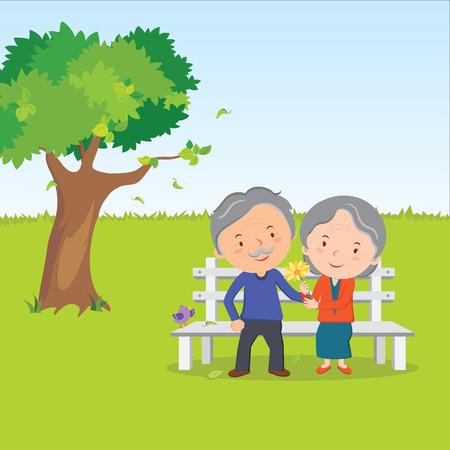 Bejaard echtpaar en een gezonde levensstijl
