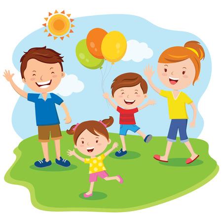 lifestyle family: D�a de la familia; excursi�n de la familia