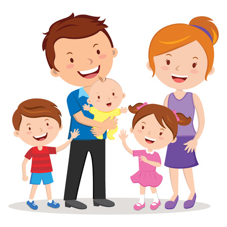 convivencia familiar: Retrato de familia feliz