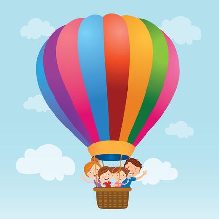 Paseo en globo aerostático Familia