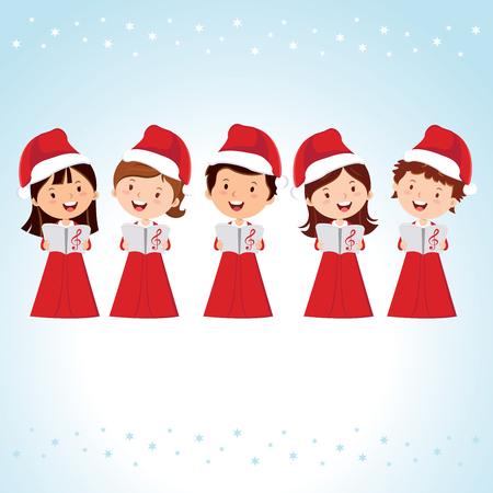 choir: Children Christmas Choir. Christmas Carols.