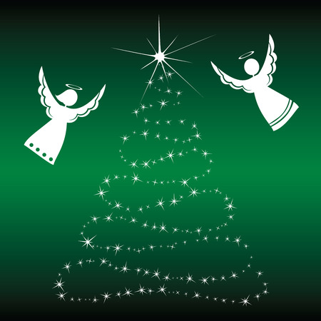 christmas angels: Christmas angels. Christmas angels with christmas tree graphics.