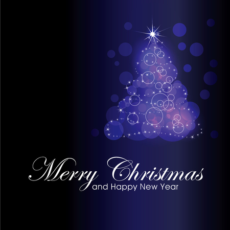 shinning light: Christmas tree graphics. Merry Christmas and Happy New year! Illustration