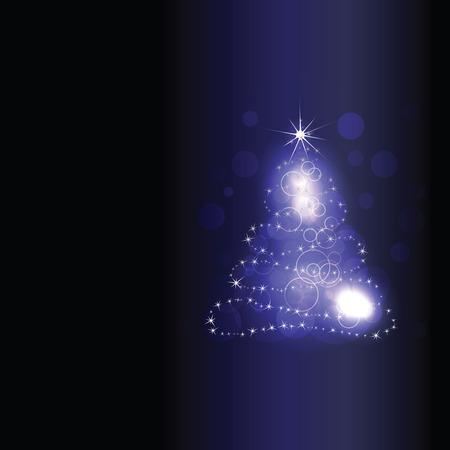 merry chrismas: Xmas tree graphics. Merry Christmas and Happy New year! Illustration