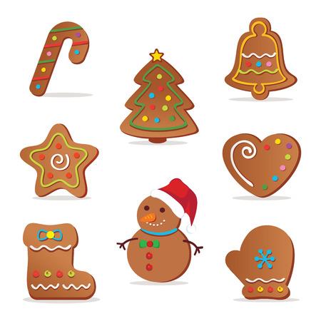 gingerbread cookie: Christmas cookies. illustration of Christmas cookies.