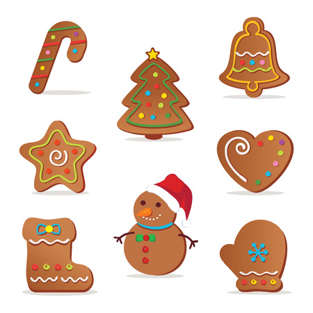 Christmas cookies. illustration of Christmas cookies.