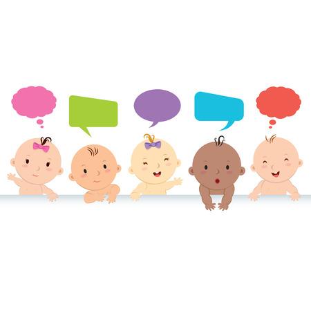 diversidad: Bebés multirraciales