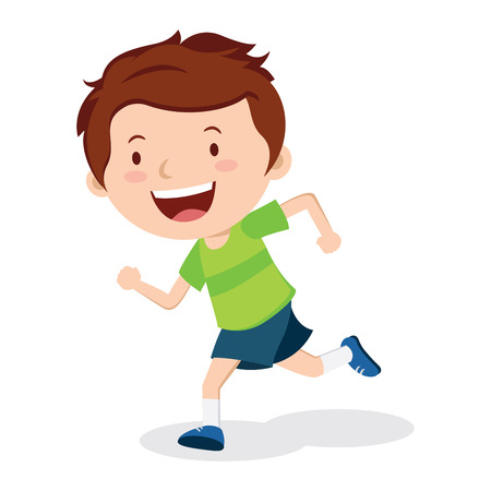 sporty: Boy running. Marathon runner or a boy running on school sport day.