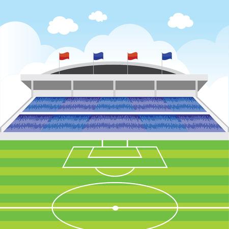Soccer stadium. Soccer stadium vector.