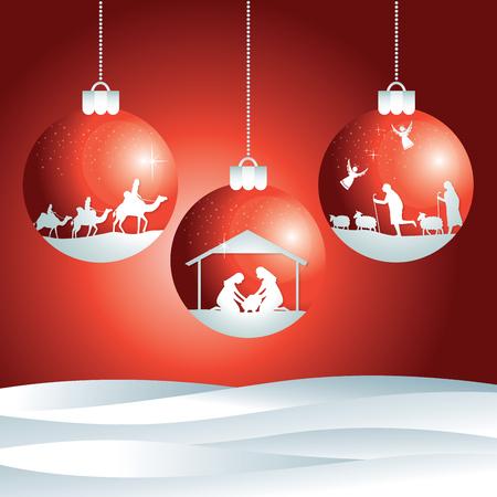 Scène de nativity de Noël