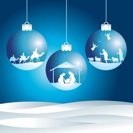 Scena del nativity di Natale