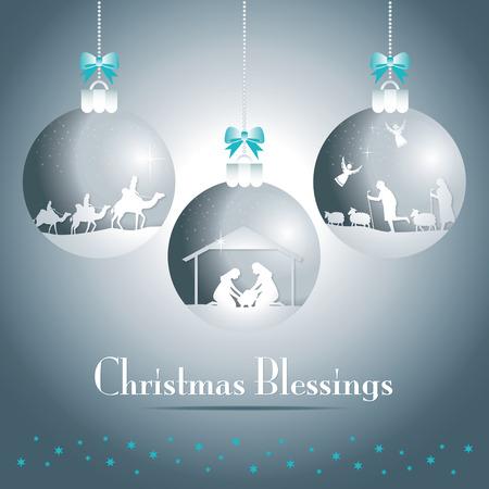 Scène de nativity de Noël Vecteurs