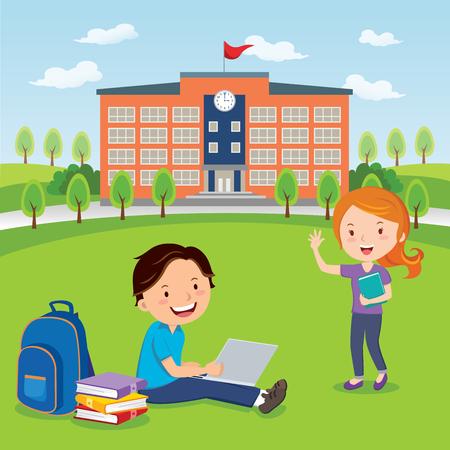 Los estudiantes van a la universidad o la universidad
