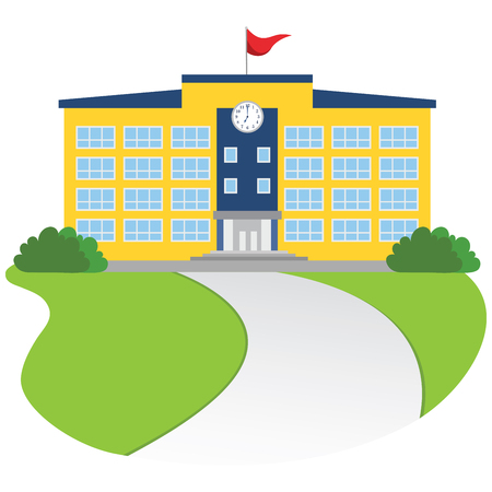 628 University Campus Building Stock Vector Illustration And ...
