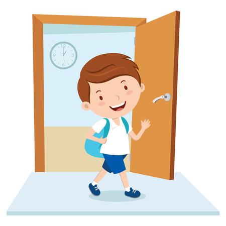 School boy Stock Illustratie