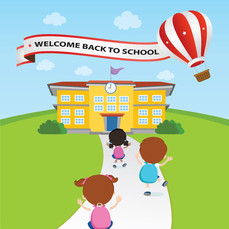 teenagers learning: Welcome back to school balloon
