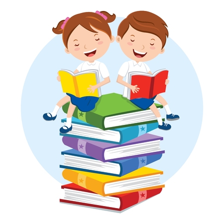 Reading for pleasure Иллюстрация