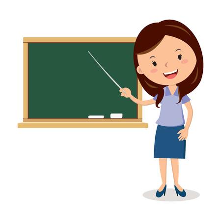 Vrolijke leraar op les