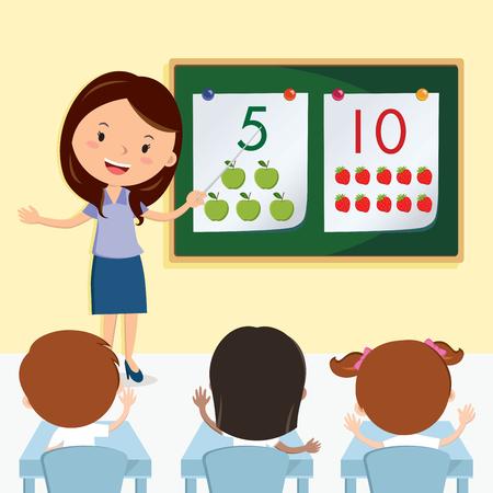 teacher teaching: Teacher teaching in the class