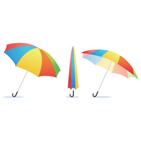 rainbow umbrella: Rainbow umbrella. Vector illustration of rainbow umbrella isolated. Illustration