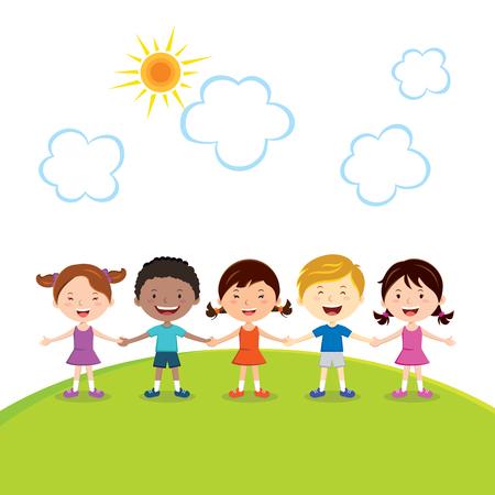 fun in the sun: Fun in the sun. Friendship. Illustration