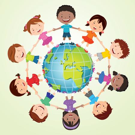 personas reunidas: Niños del mundo