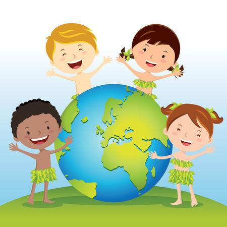 Aimez notre Terre Banque d'images - 66571770