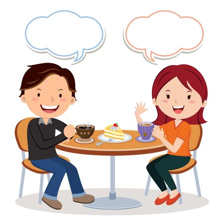fiance: Coffee and tea time Illustration