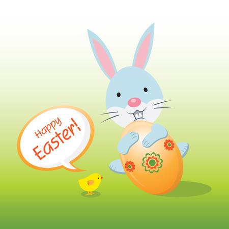 Easter bunny. Season Greeting.
